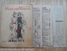 12 2 Schnittmusterbogen  Mode und Wäsche 1938/39 Heft  1