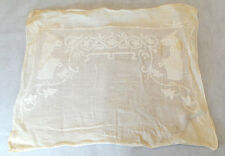 Antique Vintage Cotton Pillow Case W Egyptian Dogs
