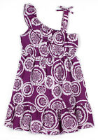 New Girls Purple Cotton Floral Summer Party Dress from 6-7 to 12-13 Years