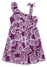 Nuevo Púrpura de Niñas Algodón Vestido Fiesta Verano Floral de 6-7a 12-13 Años