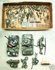 """CHAP MEI SOLDIER FORCE PLAYSET BATTLE TANK Helicopter LOT Action Figure Rare """""""