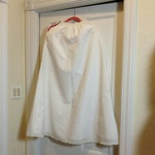 """Vintage Half Slip 40"""" Full Length Size Small Lace Trim Elastic And Hook And Eye"""