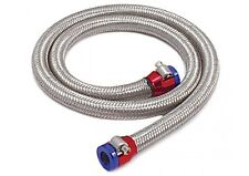 """Braided S.Steel-Flex Fuel Line Kit 5/16"""" Red/Blue Clamps 3' 29390 Spectre"""