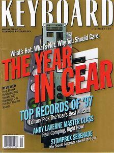 1997 Keyboard Magazine: ROLAND RD-600, YAMAHA G50, Cry Baby & Vox V848