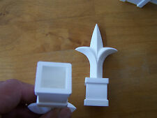 Lot of 50 White Plastic  3/4 inch picket fence finials