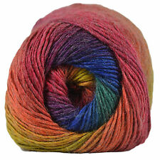 King Cole Riot DK Knitting WoolYarn Rainbow 1843 per 100g Ball