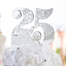 25th Anniversary Cake Pick Top Topper Birthday Resin Party Gift Celebration