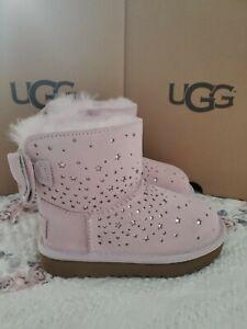 Ugg Girls Toddler Stargirl Classic Mini Bow Baby Pink SZ US 8 T