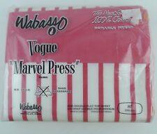 Wabasso Double Flat Sheet Dark Pink Stripes Vintage Sealed No Iron 100% Cotton