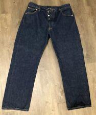 Levis 501 Button Fly Indigo Jeans Size Mens 34 X 29