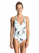 roxy shady palm v neck one piece swimsuit