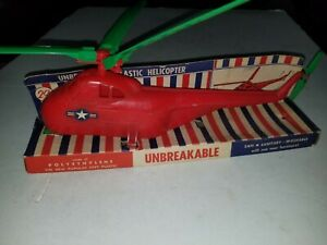 Rare 1950s Popular soft plastic Toy helicopter Original Aurora I'll
