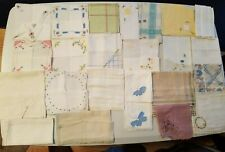 Estate Lot of 69 Vintage Hankies - Mix of Floral, Lace, Crochet, Embroidered Etc