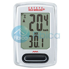 New Cateye VELO Wireless+ Cycling Bike Computer Speedometer CC-VT235W White