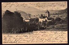 47454 AK Spiez Kirche Schloss Alpen 1903