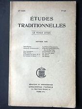 LE VOILE D'ISIS - JANVIER 1936 - NUMERO 193