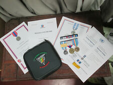 French Foreign Legion Etrangere-2º REP-set medals + box cover