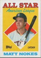 Matt Nokes All Star American League 1988 Topps Baseball Card #393 Detroit Tigers