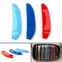 3x M Color Kidney Grille Bar Cover Decal Stripe Clips Cover For BMW X3 G01 18/AU