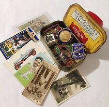 Erinmore Flake Tobacco Tin Cigarette Cards Pin Bowling Club Badge Lot (B51)