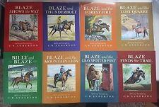BILLY & BLAZE 8 Book Set Lot (pb) C W Anderson Everyone Loves Billy & Blaze NEW