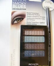 NIP REVLON COLORSTAY 12 HR EYE SHADOW & EYELINER      AZURE MIST/CHARCOAL