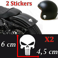 lot 2 Stickers autocollant pirate skull punisher deco moto casque ipad voiture