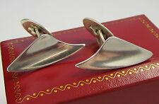 Vintage Handmade Signed BADR. B DENMARK Modern Design Sterling Silver Cuff Links