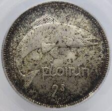 1942 florin ireland 2 shiling pcgs ms65 beautiful  gem hard in this high grade