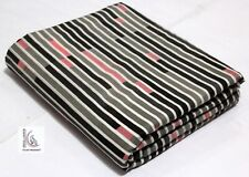 Multi Color Stripe Hand Block Print EZO FREE Fabric 100% Cotton RUNNING Craft 01