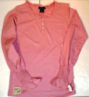 *NWT* RALPH LAUREN WOMENS TEENS PINK LONG SLEEVES FASHION TOP SIZE XL (16) M213