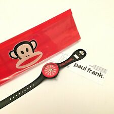 Paul Frank Wrist Watch Black & Red Stainless Steel Back Silicon Strap 13-17.5cm