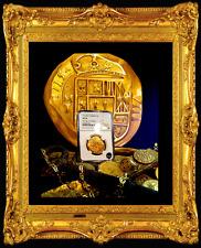 """PAINTING (NOT COIN): MEXICO 1715 """" FLEET SHIPWRECK"""" 8 ESCUDOS  GOLD TREASURE"""