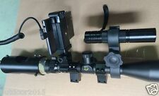 Rifle Scope Add On DIY Night Vision Scope for Android Mobile Phone w/ IR Torch