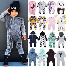 d66408daea5f Hot Kids Baby Boys Girls Hooded One Piece Jumpsuit Romper Casual Outfit  Clothes