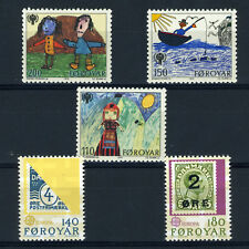 Faroe Islands 1979 Europa & Year of Child. Sg 42-46. Mint Never Hinged. (Ca371)