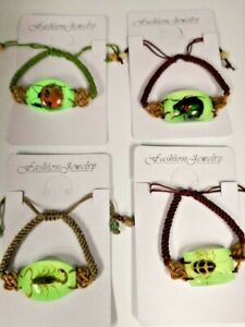 NEW Real INSECT SCORPION and BUG BRACELET Glow In The Dark Jewelry PENDANT US