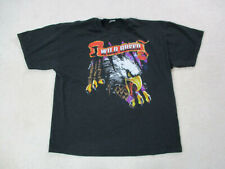 VINTAGE Wild Breed Shirt Adult Extra Large Black Motorcycle Biker Rider Mens 90s