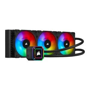NEW! Corsair Icue H150i Elite Capellix 360Mm Rgb Liquid Cpu Cooler 3 X 12Cm Ml12