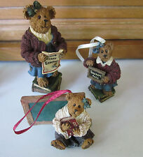 Boyds Teacher Bearstone and 2 Ornaments