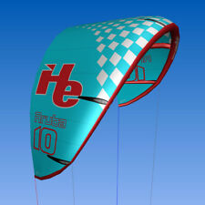 New 10m2, flyHelium Aruba kiteboarding Kite (Blue). Ideal for all levels.