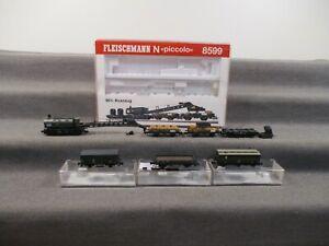 Fleischmann N 8599 8201K u.a. Wagen-Set 7-teilig 90t-Kranzug in OVP Q207