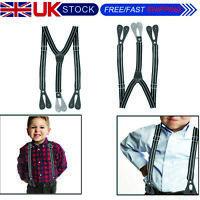 Para Niños y Niñas Ajustable Pantalones Y Tirantes Lavable Fiesta Boda