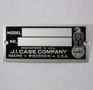 Genuine Original JI Case Tractor Model Serial Number Plate Blank VTG Part Tag