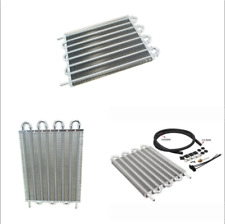 Universal 8-Row Car Vehicle Aluminum Remote Transmission Oil Cooler Radiator Kit