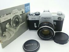 Vintage Canon FX film Camera w/F1.8 Canon 50mm Lens and Instruction manual