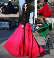 Gonna Lunga Donna Vita Alta - Woman Maxi Skirt Floor Length- Chiffon A130014