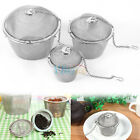 3 Size Stainless Steel Tea Spice Herbal Strainer Mesh Infuser Filter For Teapot