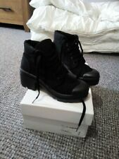 Chunky Cleated Black Boots sz3