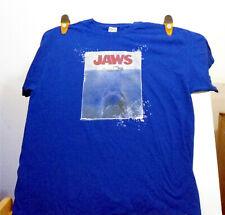 Jerzees Jaws Movie Poster logo T-Shirt Size Royal Blue Size Xl